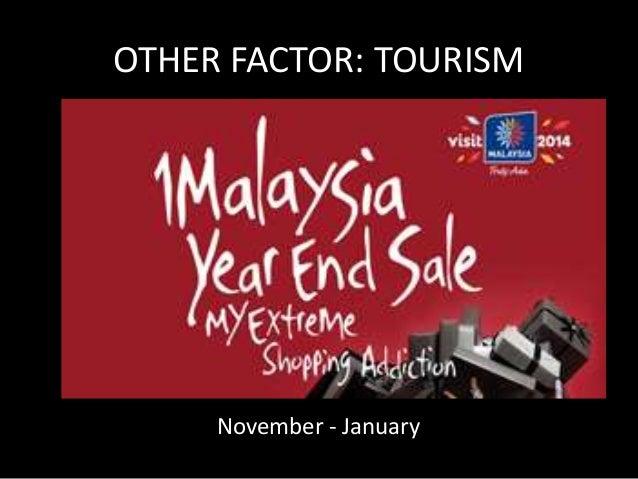 OTHER FACTOR: TOURISM  June – Sept