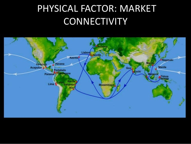 PHYSICAL FACTOR: SUMMARY  Market is well  connected to major  economies  • Market is  concentrated on  specific region of ...