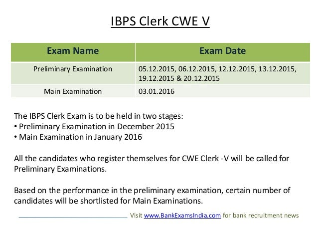 bank exams in 2015-16