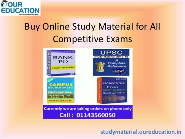 Buy Online Study Material for All Competitive Exams studymaterial.oureducation.in