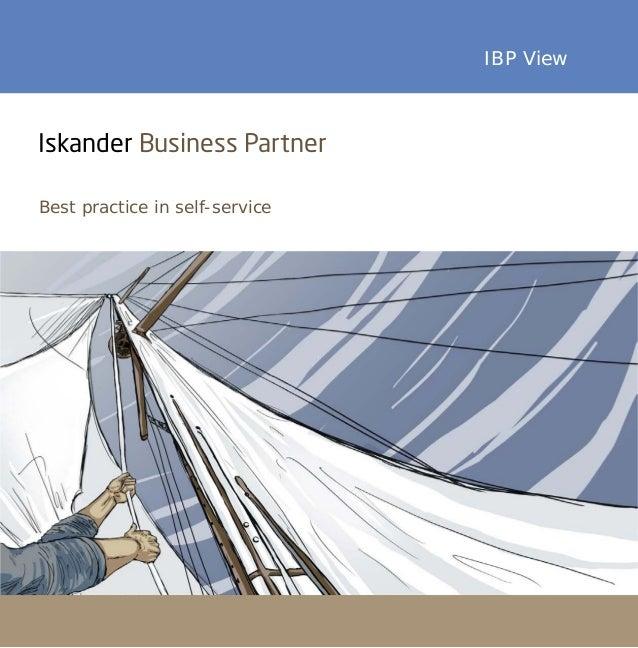 Best practice in self-service IBP View Iskander Business Partner
