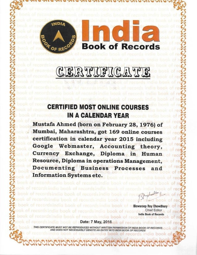 CERTIFIED MOST ONLINE COURSES