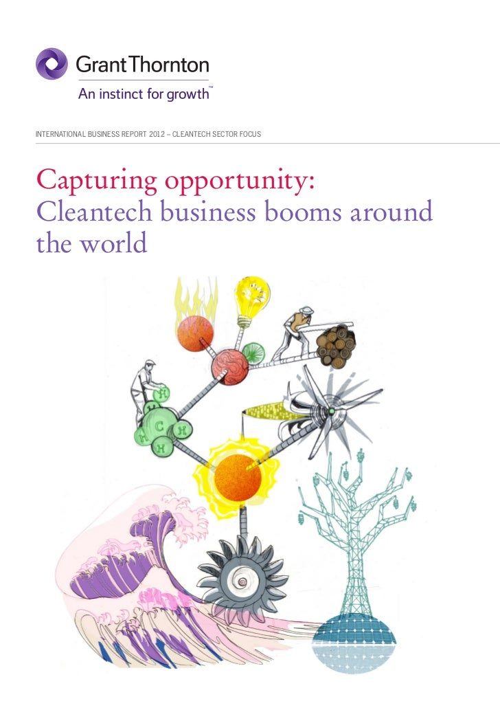 INTERNATIONAL BUSINESS REPORT 2012 – CLEANTECH SECTOR FOCUSCapturing opportunity:Cleantech business booms aroundthe world
