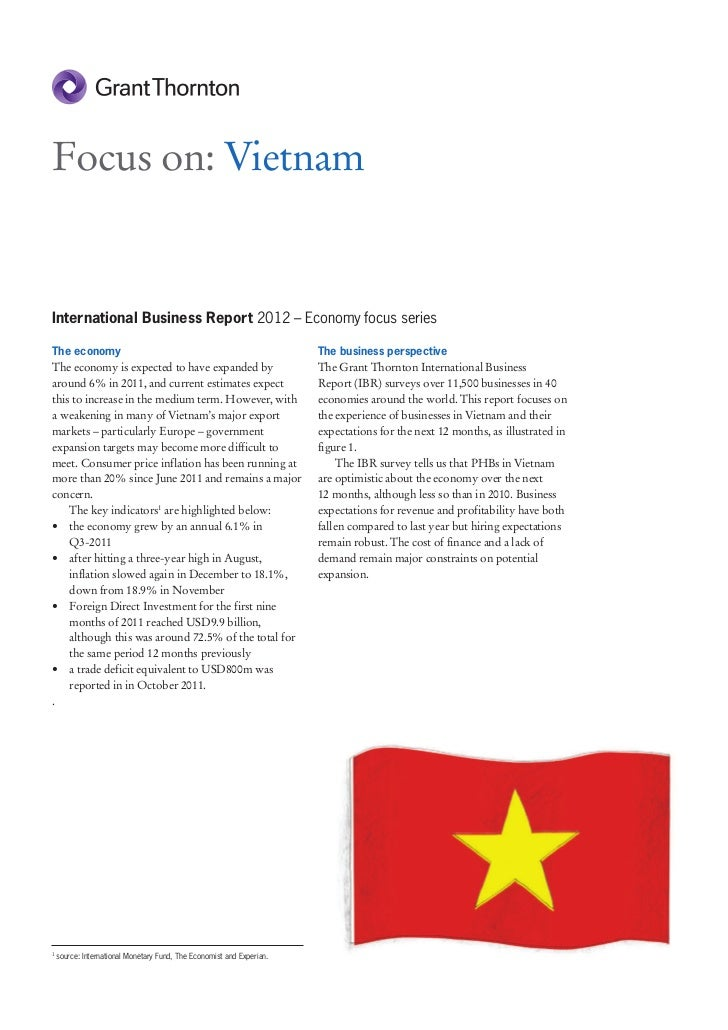 Focus on: VietnamInternational Business Report 2012 – Economy focus seriesThe economy                                     ...
