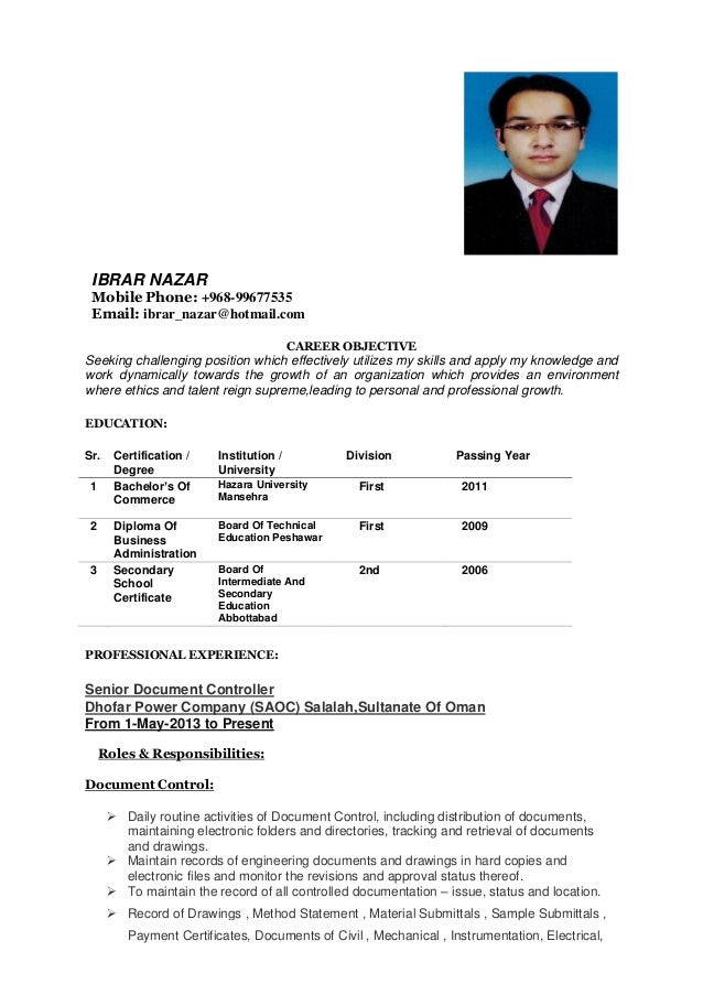 need job in oman ibrar nazar resume - Resume For A Job