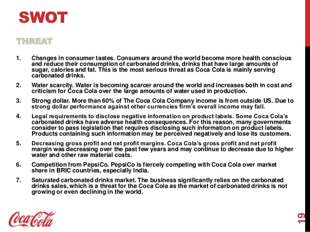 coke strategic analysis Strategy analysis the international strategy of coca-cola's company is to plan for the whole business that sets out how the coca-cola's company will use its major resources.