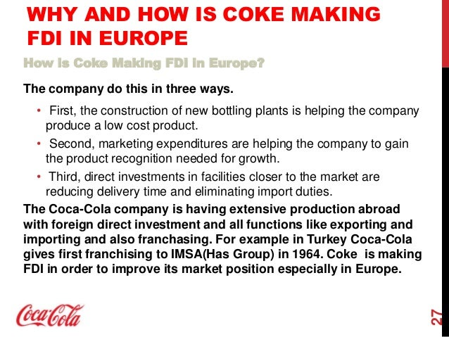 is the coca cola company a multinational enterprise By selin kum & eugene ha  introduction: what does the coca-cola company do the coca cola company manufactures, distributes and markets carbonated beverages world-wide.