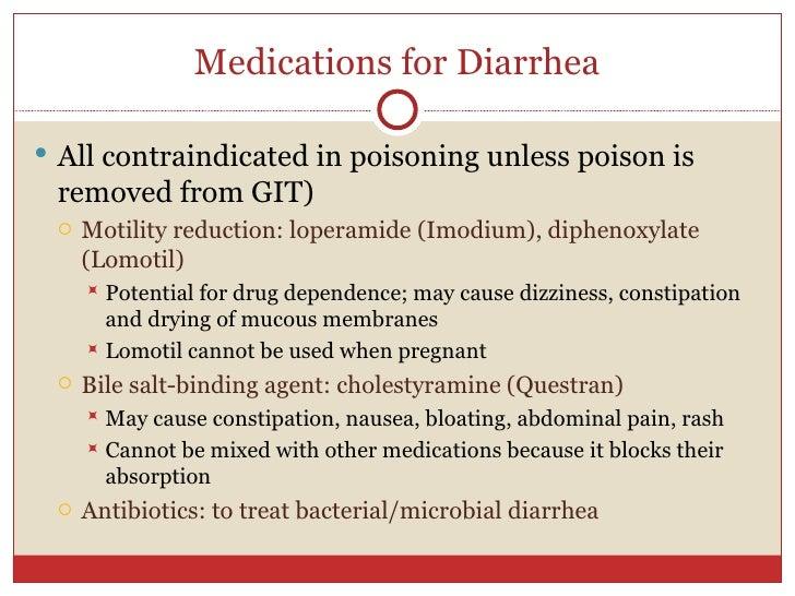 Pharmacologic Agents for Chronic Diarrhea