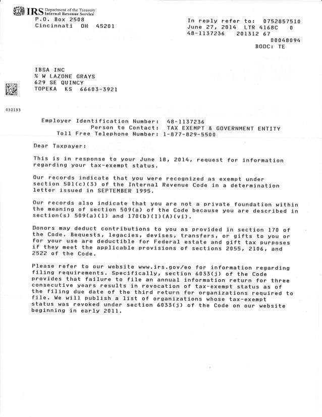 irs determination letter 2014 ffit m s ritijxlfi ilih lt