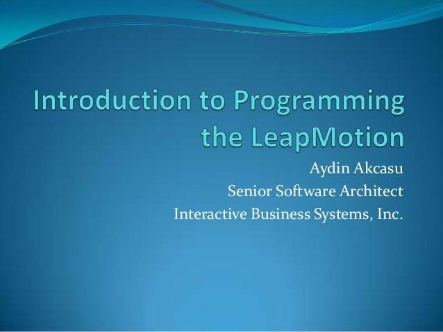 Aydin Akcasu Senior Software Architect Interactive Business Systems, Inc.