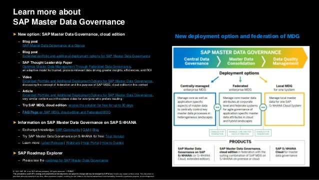 © 2021 SAP SE or an SAP affiliate company. All rights reserved. ǀ PUBLIC This presentation and SAP's strategy and possible...