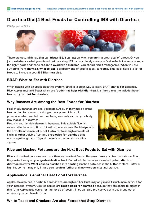 Best Foods To Eat With Chronic Diarrhea