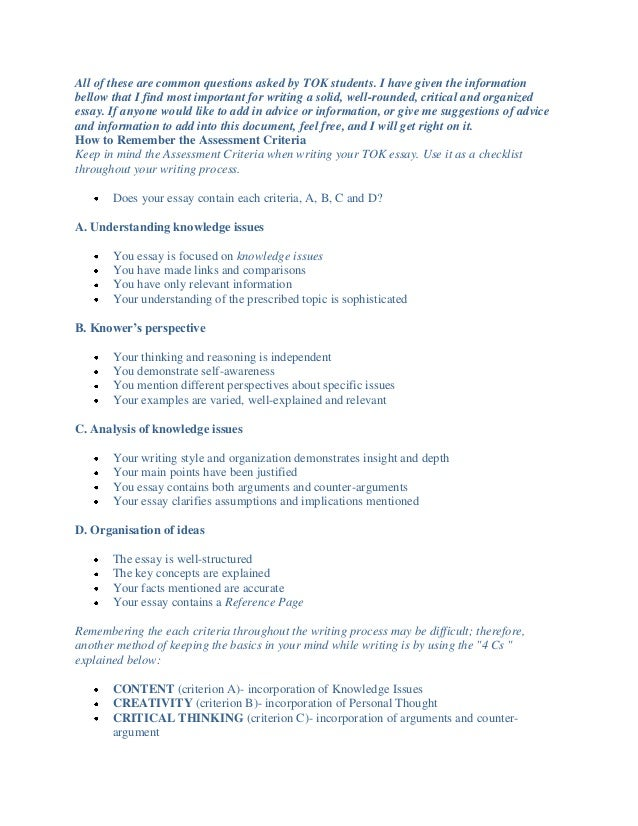 tok 2016 dissertation something format