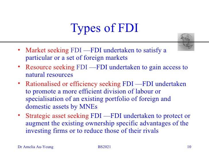 market seeking fdi definition