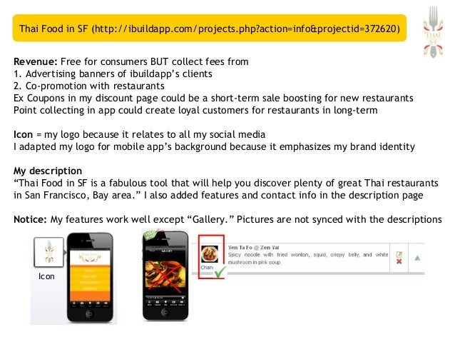 Thai food in sf ibuildapp mobile application for Application creation cuisine