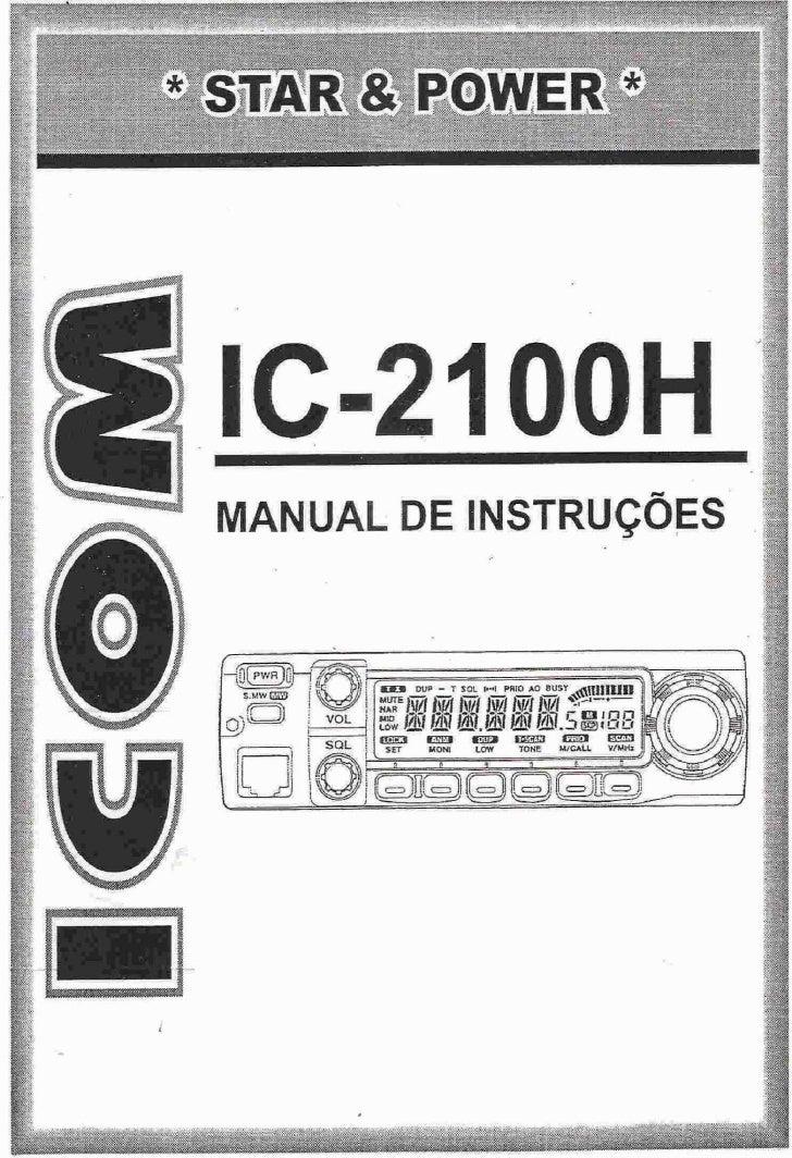 Ic 2100 h manual português