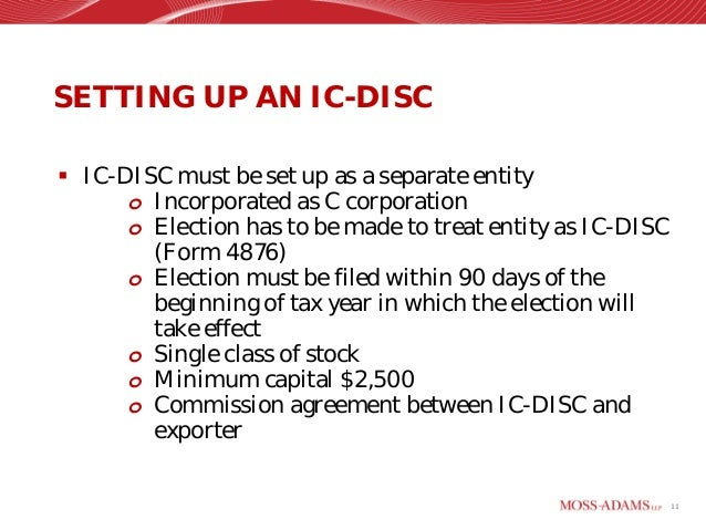 IC-DISCs as a Tax Arbitrage and Wealth Transfer Strategy