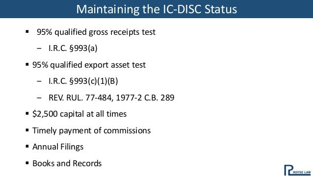 IC-DISC for the Agriculture Industry