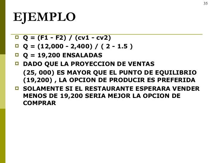 EJEMPLO <ul><li>Q = (F1 - F2) / (cv1 - cv2) </li></ul><ul><li>Q = (12,000 - 2,400) / ( 2 - 1.5 ) </li></ul><ul><li>Q = 19,...