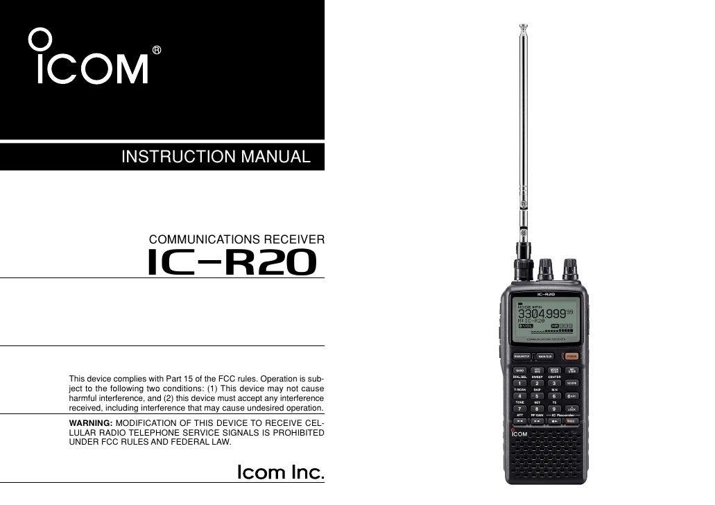 ic r20 manual 1 rh slideshare net icom ic-m422 vhf marine radio manual icom m304 vhf marine radio manual