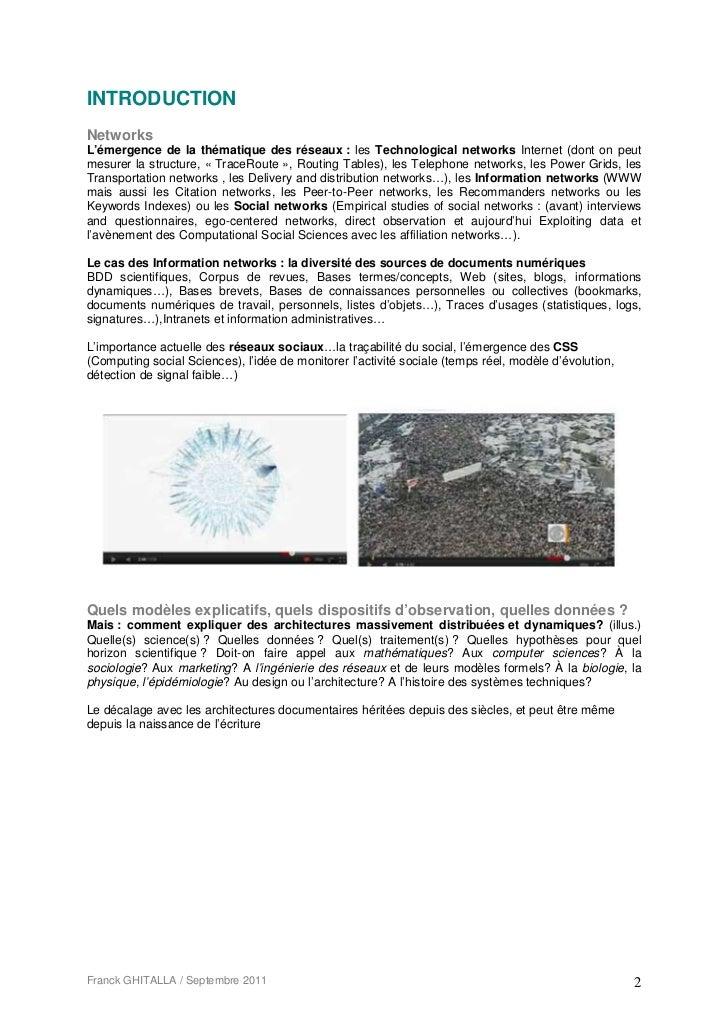 INTRODUCTIONNetworksL'émergence de la thématique des réseaux : les Technological networks Internet (dont on peutmesurer la...