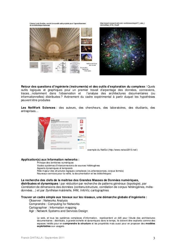 Retour des questions d'ingénierie (instruments) et des outils d'exploration du complexe / Quelsoutils logiques et graphiqu...