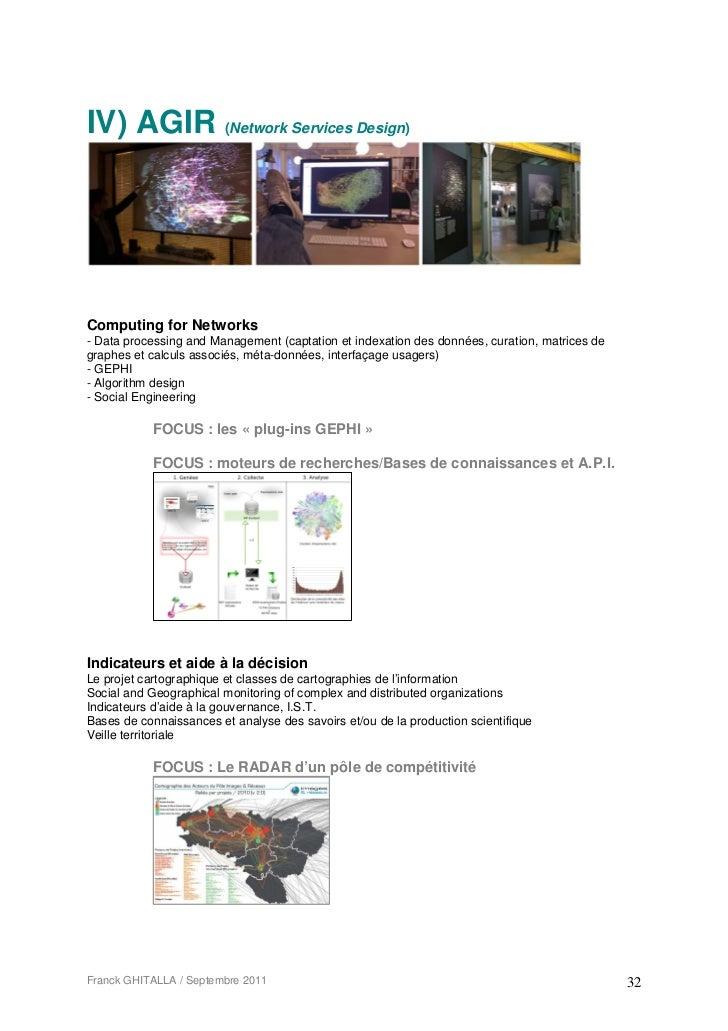 IV) AGIR (Network Services Design)Computing for Networks- Data processing and Management (captation et indexation des donn...