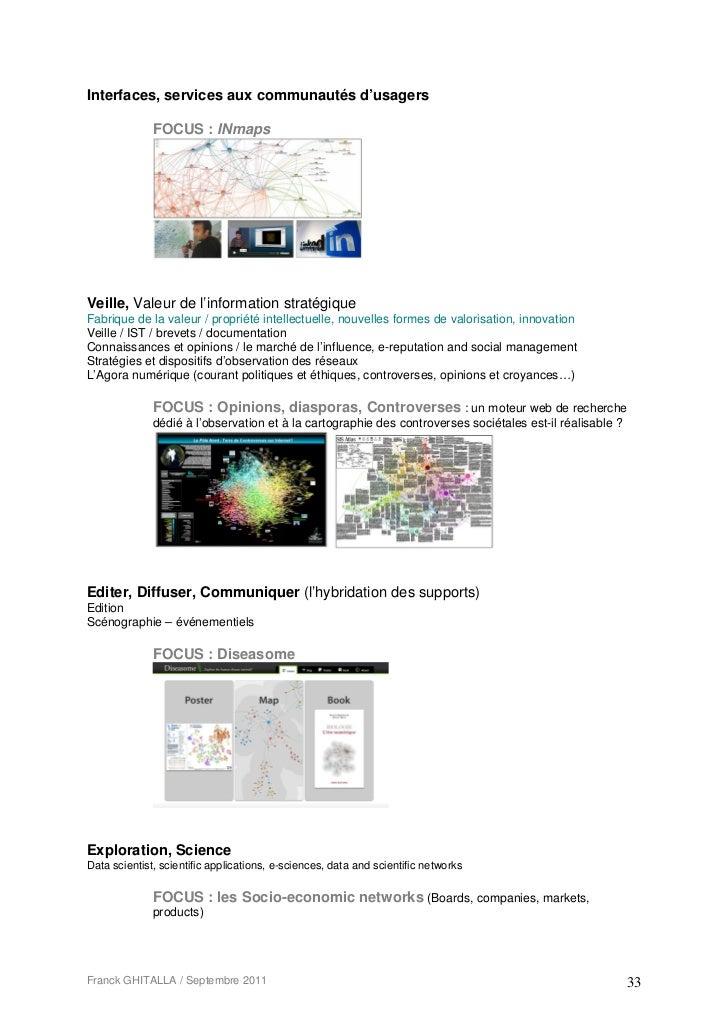 Interfaces, services aux communautés d'usagers              FOCUS : INmapsVeille, Valeur de l'information stratégiqueFabri...