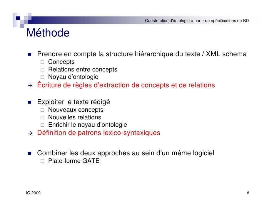 Construction automatique d 39 ontologies partir de sp cifications de b - Regles de construction en limite de propriete ...