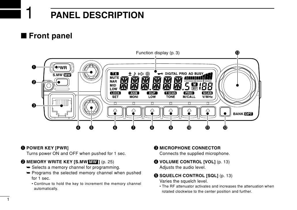 ic2200h manual rh slideshare net IC-2200H Programming Software Icom 22 00H Back