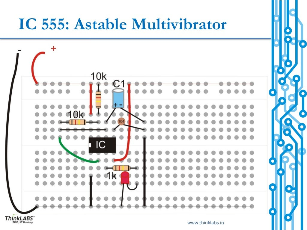 Ic 555 Timer As Astable Multivibrator