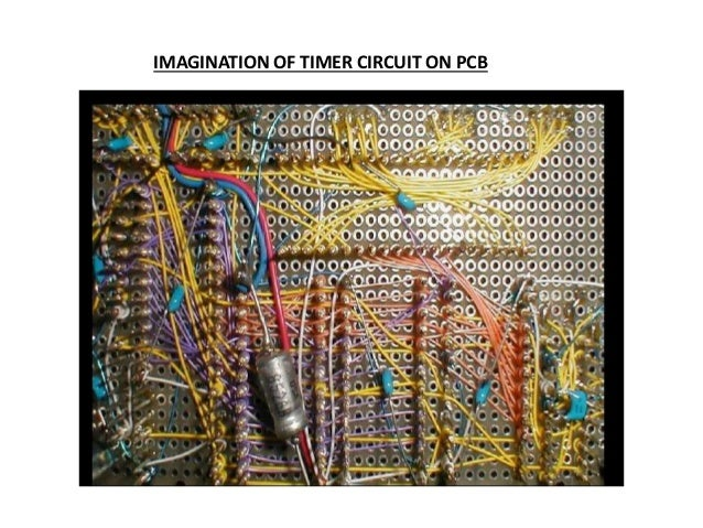 IMAGINATION OF TIMER CIRCUIT ON PCB