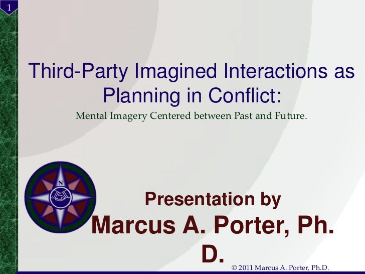Third-Party Imagined Interactions as Planning in Conflict:<br />Mental Imagery Centered between Past and Future.<br />