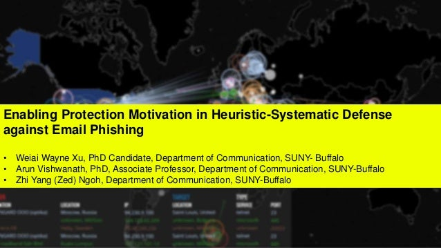 Enabling Protection Motivation in Heuristic-Systematic Defense against Email Phishing • Weiai Wayne Xu, PhD Candidate, Dep...