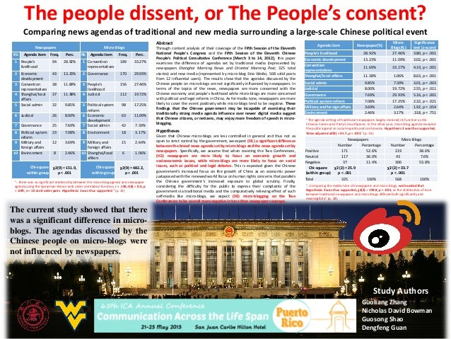 The people dissent, or The People's consent? Comparing news agendas of traditional and new media surrounding a large-scale...