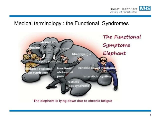 1 Medical terminology : the Functional Syndromes
