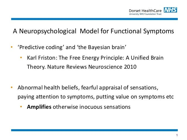 1 • 'Predictive coding' and 'the Bayesian brain' • Karl Friston: The Free Energy Principle: A Unified Brain Theory. Nature...