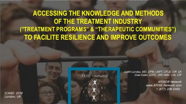 "ACCESSING THE KNOWLEDGE AND METHODS OF THE TREATMENT INDUSTRY (""TREATMENT PROGRAMS"" & ""THERAPEUTIC COMMUNITIES"") TO FACILI..."