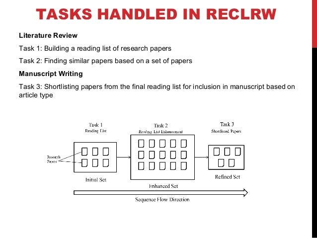 FIRST TASK IN REC4LRW