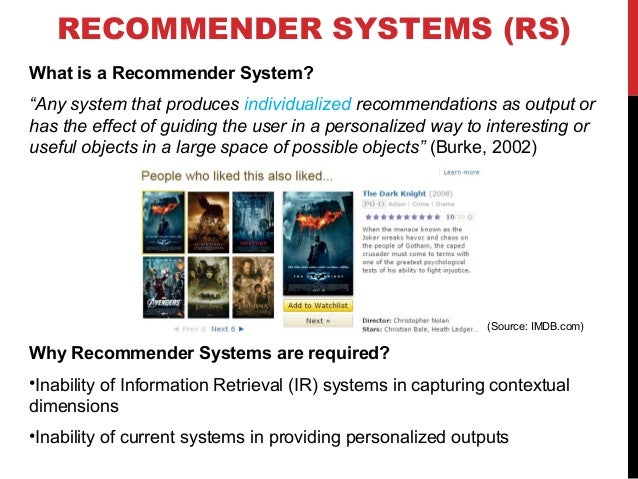 USE OF RS IN SCHOLARLY DOMAIN RS have been previously used for scholarly recommendations for the following scenarios: •Ide...