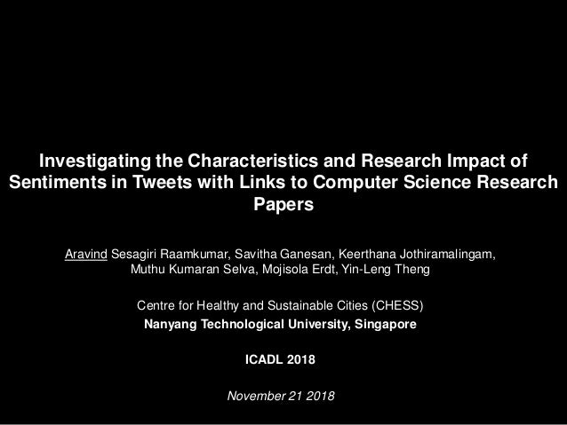Investigating the Characteristics and Research Impact of Sentiments in Tweets with Links to Computer Science Research Pape...