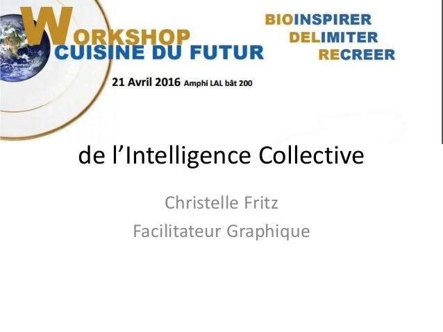 La cuisine à l'ère de l'Intelligence Collective Christelle Fritz Facilitateur Graphique