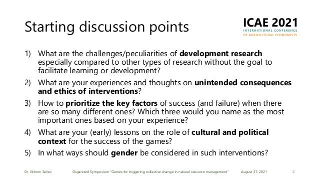 Games for triggering collective change in natural resource management Slide 2