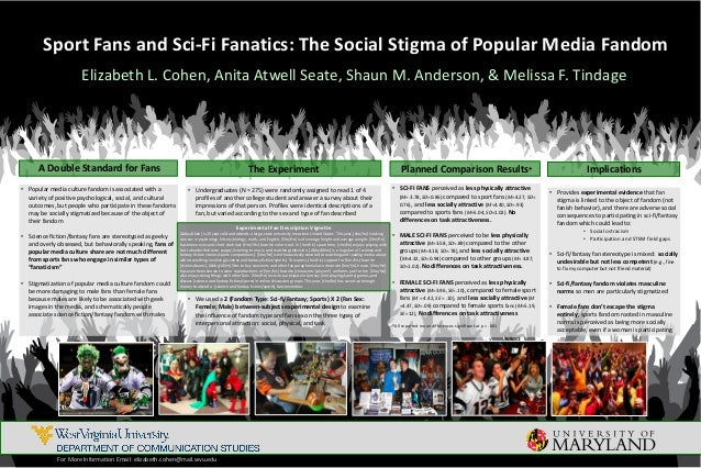 Sport Fans and Sci-Fi Fanatics: The Social Stigma of Popular Media Fandom Elizabeth L. Cohen, Anita Atwell Seate, Shaun M....
