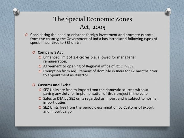 special economic zones as growth engines