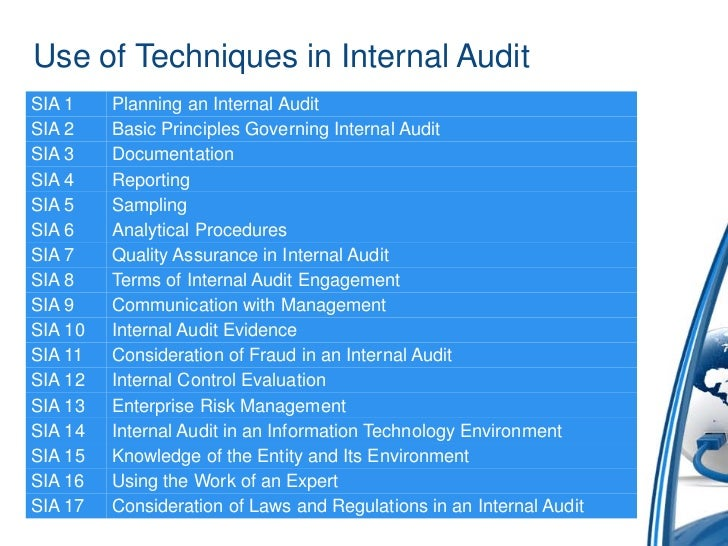 Use Of Techniques And Technology In Internal Audit