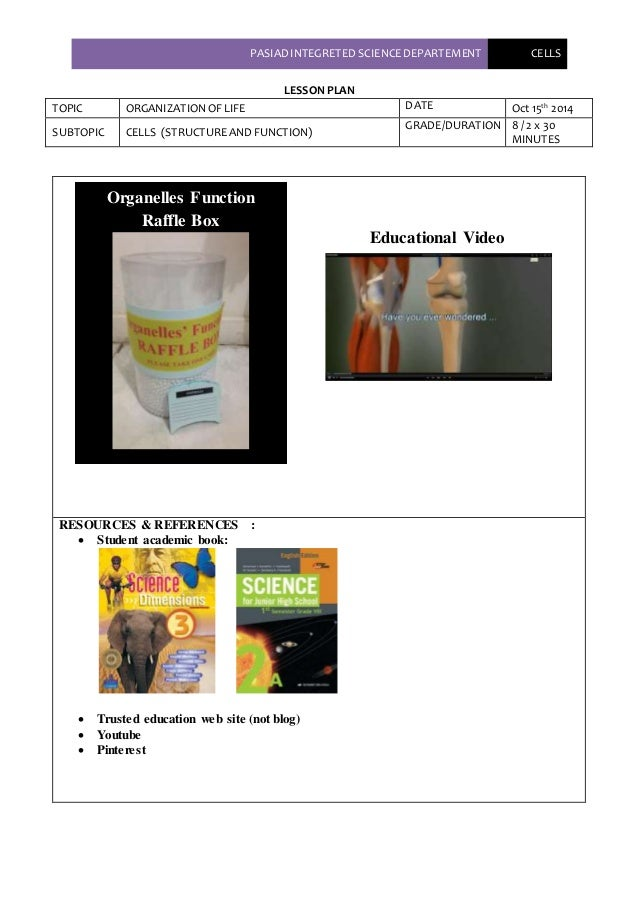 Lesson Plan Skeletal System Peer Teaching