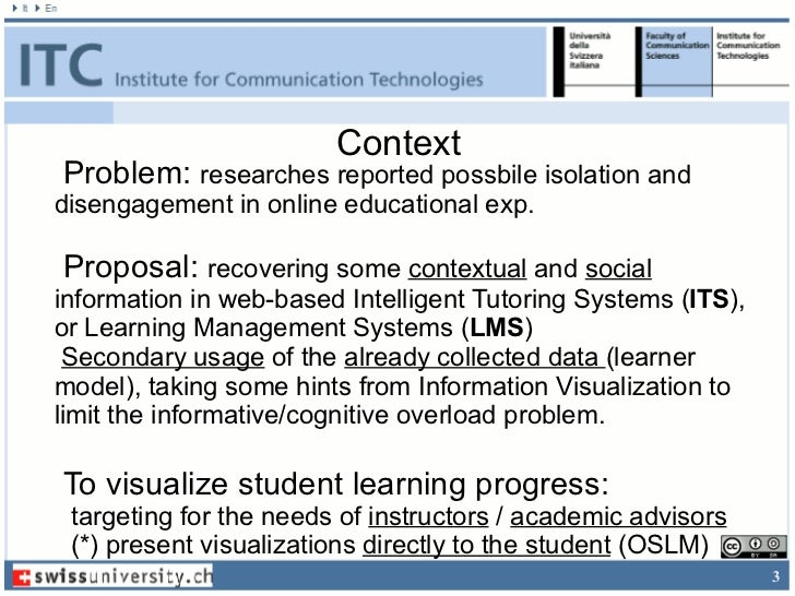 ContextProblem: researches reported possbile isolation anddisengagement in online educational exp.Proposal: recovering som...