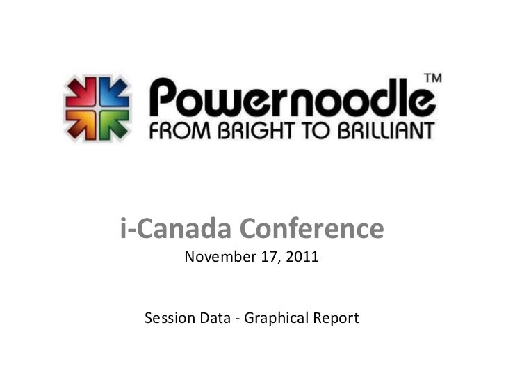 i-Canada Conference      November 17, 2011 Session Data - Graphical Report
