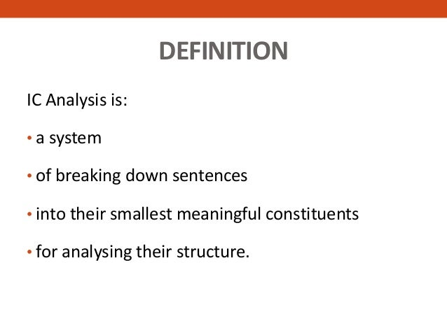 what is ic analysis